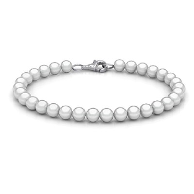 personalized Freshwater Pearl Bracelet with Silver Clasp - Name My Jewelry ™