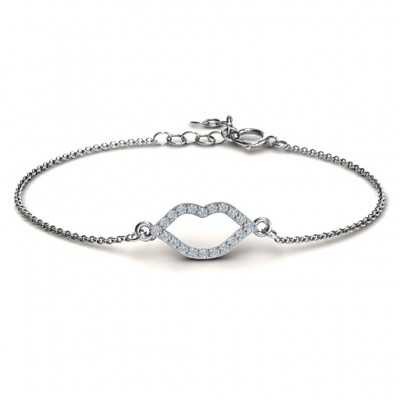 personalized Lustrous Lips Bracelet - Name My Jewelry ™