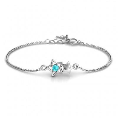 personalized Me and My Shadow Star Bracelet - Name My Jewelry ™