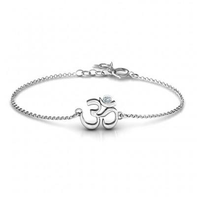 Om - Sound of Universe Bracelet with Round Stone  - Name My Jewelry ™