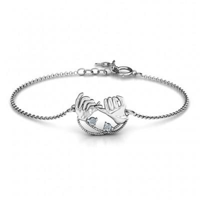 personalized Pinky Swear Promise Bracelet - Name My Jewelry ™