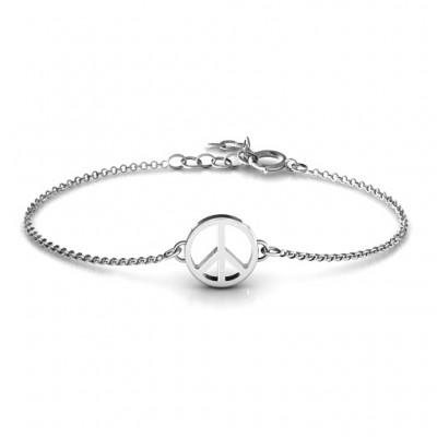 personalized Shanti Peace Bracelet - Name My Jewelry ™