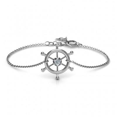 personalized Ship's Wheel Bracelet - Name My Jewelry ™
