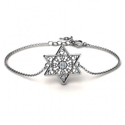 personalized Star of David with Filigree Bracelet - Name My Jewelry ™