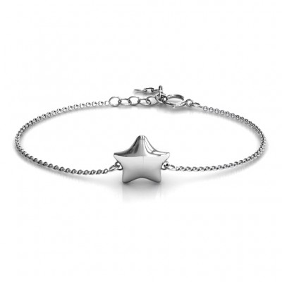 personalized Sterling Silver Lucky Star Bracelet - Name My Jewelry ™