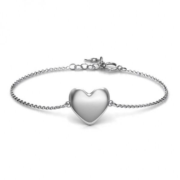 personalized Sterling Silver Sweet Heart Bracelet - Name My Jewelry ™
