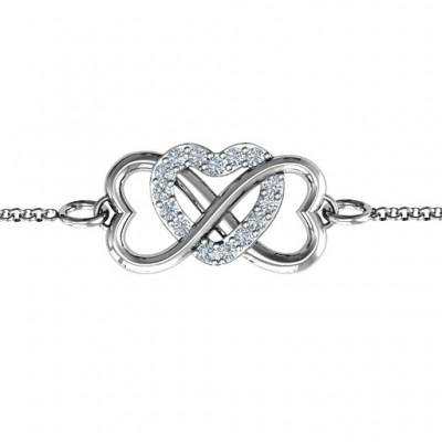 personalized Triple Heart Infinity Bracelet - Name My Jewelry ™