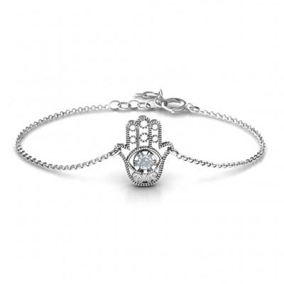 personalized Upright Hamsa Bracelet - Name My Jewelry ™