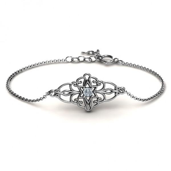 personalized Vintage Star of David Bracelet - Name My Jewelry ™