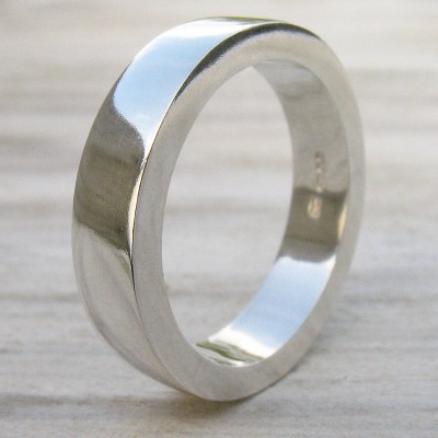 Handmade Chunky Mens Silver Ring - Name My Jewelry ™