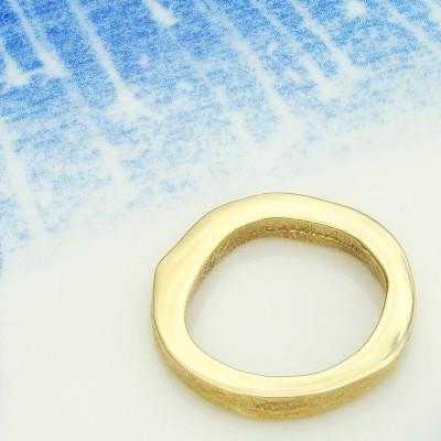 18ct Yellow Gold Bespoke Fingerprint Ring - Name My Jewelry ™