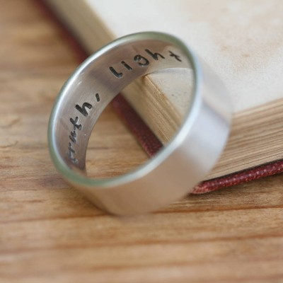 Pure And Simple personalized Mens Ring - Name My Jewelry ™