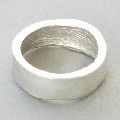 Sterling Silver Bespoke Fingerprint Ring - Name My Jewelry ™
