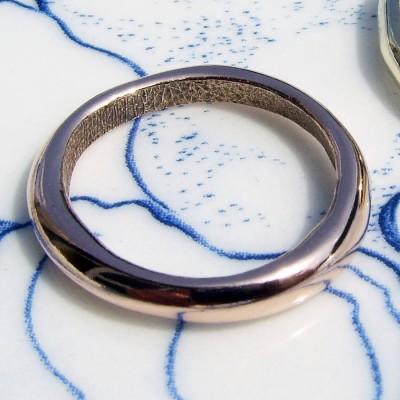18ct Rose Gold Bespoke Fingerprint Wedding Ring - Name My Jewelry ™