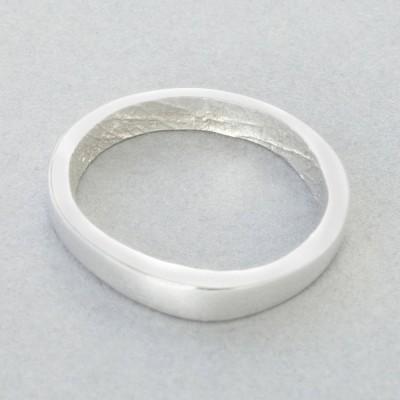 18ct White Gold Bespoke Fingerprint Ring - Name My Jewelry ™