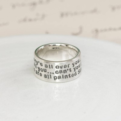 personalized Sterling Silver Message Ring - Name My Jewelry ™