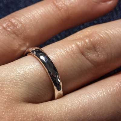 Sterling Silver Halo Wedding Band - Name My Jewelry ™