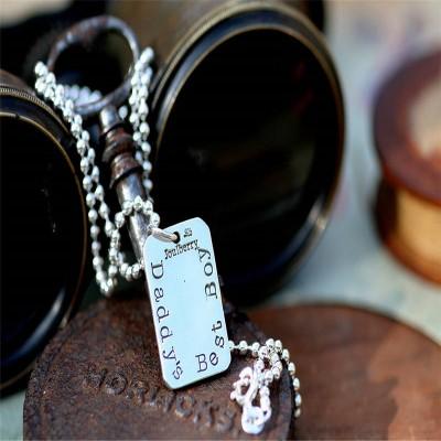 Fingerprint Tag Mens Chain - Name My Jewelry ™