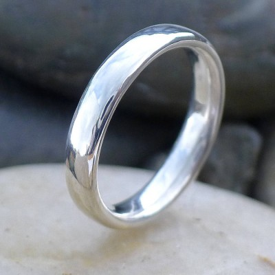 Handmade Comfort Fit Silver Ring - Name My Jewelry ™