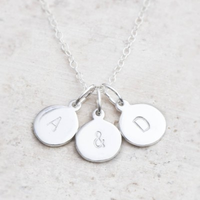 Hand Stamped Silver personalized Charm Necklace - Name My Jewelry ™