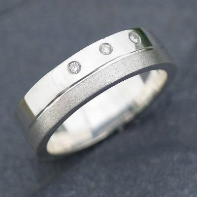 18ct Gold Handmade Mens Chunky Diamond Ring - Name My Jewelry ™