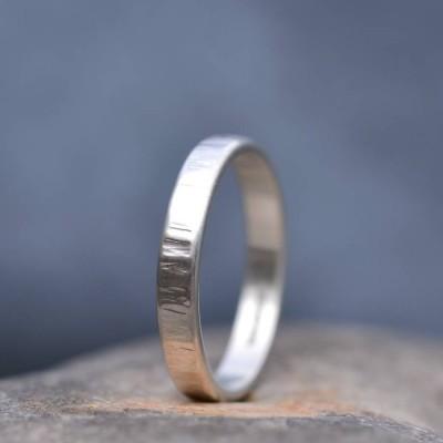 Handmade Silver Rippled Wedding Ring - Name My Jewelry ™