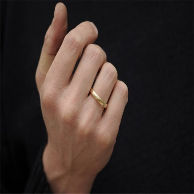 Mans Gold Wedding Band - Name My Jewelry ™
