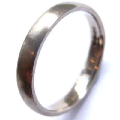 Mens 18ct White Gold Wedding Ring - Name My Jewelry ™