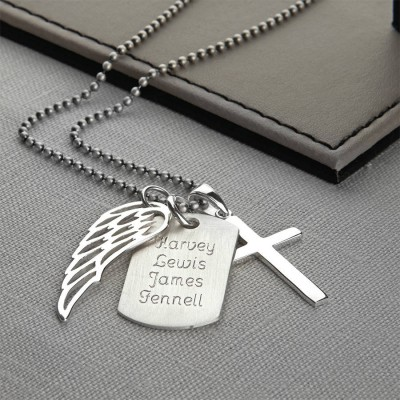 personalized Sterling Silver Karma Dog Tag Necklace - Name My Jewelry ™