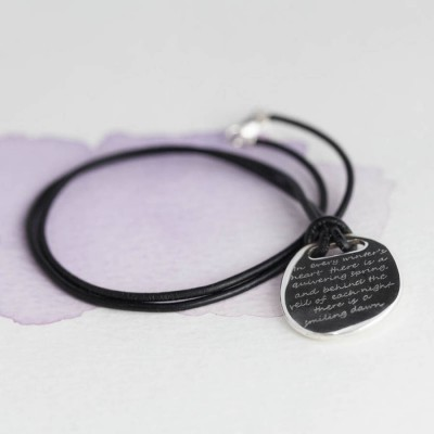 Mens Silver Quote Necklace - Name My Jewelry ™