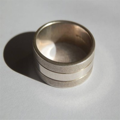 Mens Silver Band Ring - Name My Jewelry ™