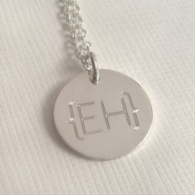 Modern Monogram Parentheses Necklace - Name My Jewelry ™