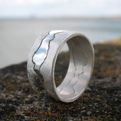 personalized Double Coastline Ring - Name My Jewelry ™