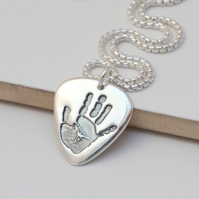 Mens personalized Hand Or Footprint Necklace - Name My Jewelry ™