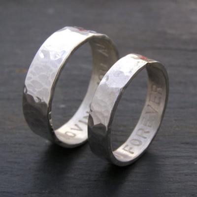 personalized His And Hers Rings - Name My Jewelry ™