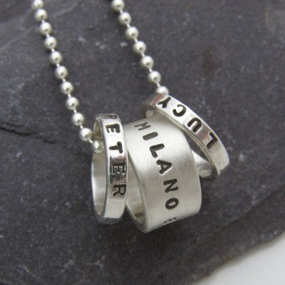 personalized Hoop Pendant - Name My Jewelry ™