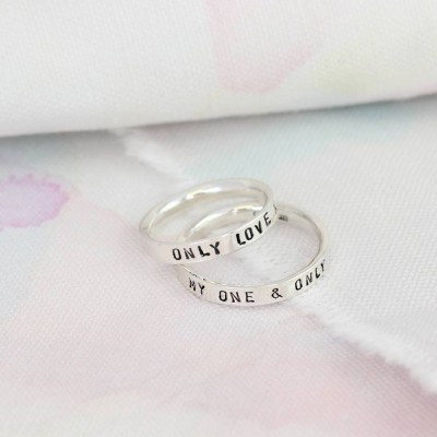personalized Script Ring For Couples - Name My Jewelry ™