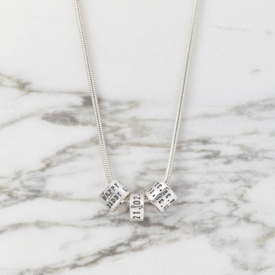 personalized Womens Silver Storyteller Necklace - Name My Jewelry ™