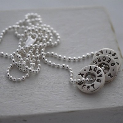 personalized Silver Washer Necklace - Name My Jewelry ™