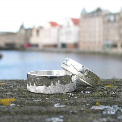 personalized City Skyline Ring - Name My Jewelry ™