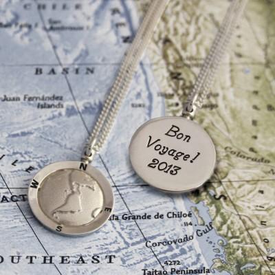 personalized Globe Travel Necklace - Name My Jewelry ™