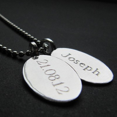 Silver Tag amp Ball Chain Necklace - Name My Jewelry ™