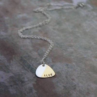 personalized Plectrum Necklace - Name My Jewelry ™