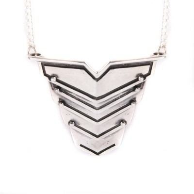 Romeo Necklace Oxydised Silver - Name My Jewelry ™