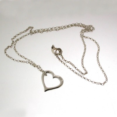 Valentines Silver Heart Necklace - Name My Jewelry ™