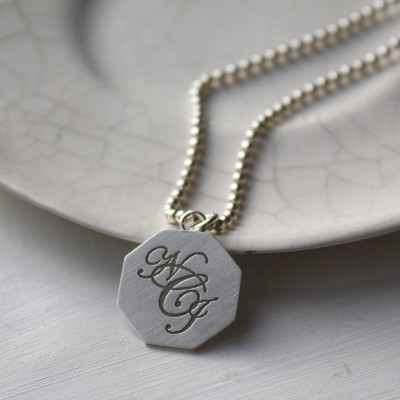Silver Monogram Necklace - Name My Jewelry ™