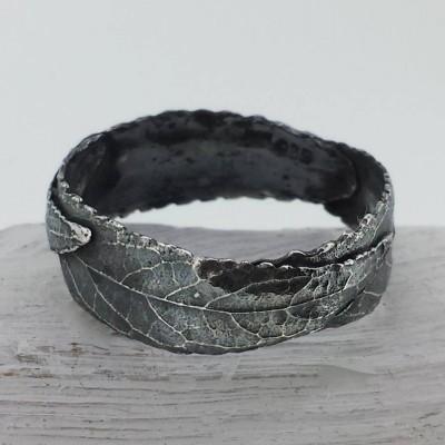 Silver Three Leaf Band Ring - Name My Jewelry ™