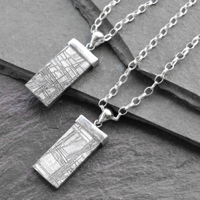 Silver Tipped Meteorite Necklace - Name My Jewelry ™