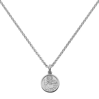 St Christopher Pendant Small Round - Name My Jewelry ™