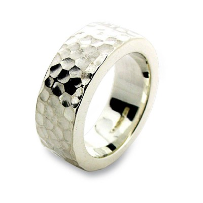 Sterling Silver Hammered Ring - Name My Jewelry ™